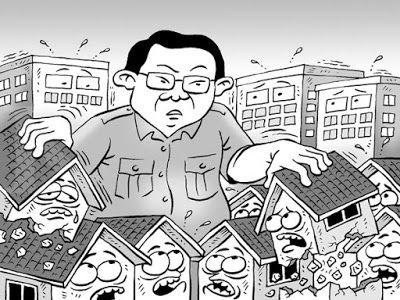Kartun Benny, Kontan - Februari 2016: Target Penggusuran Di Jakarta