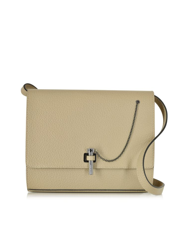 Carven Biscuit Malher Grained Leather Crossbody Bag at FORZIERI