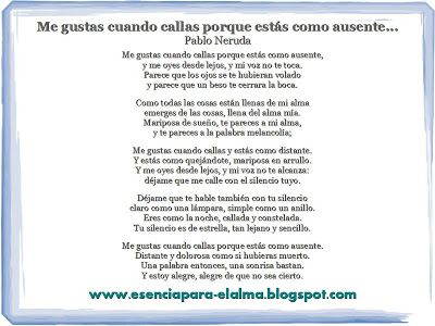 Poema Xv 20 Poemas De Amor Y Una Cancion Desesperada Pablo Neruda