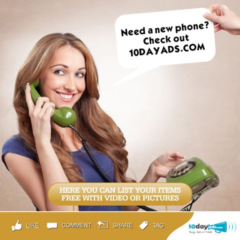 Need a New Phone Check out 10dayads.com #PhoneAds #FreePhoneClassifiedAdsInUSA