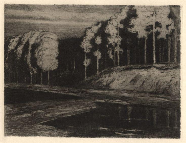 Walter Leistikow (German, 1865 - 1908): Waldsee, etching, 1897.