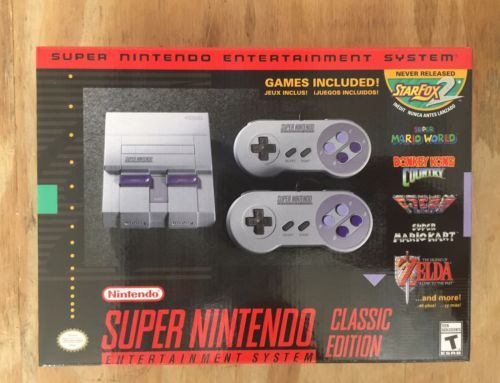 Super Nintendo Entertainment System Classic Edition - SNES Mini - NEW In Box | eBay