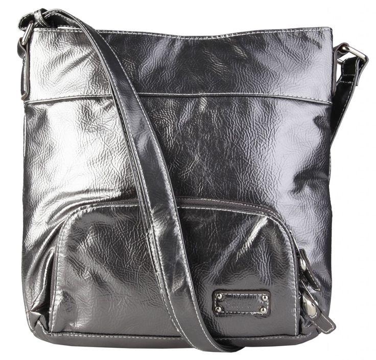 Dámská kabelka / crossbody Segue, lesk - stříbrná / šedá barva | obujsi.cz - dámská, pánská, dětská obuv a boty online, kabelky, módní doplňky