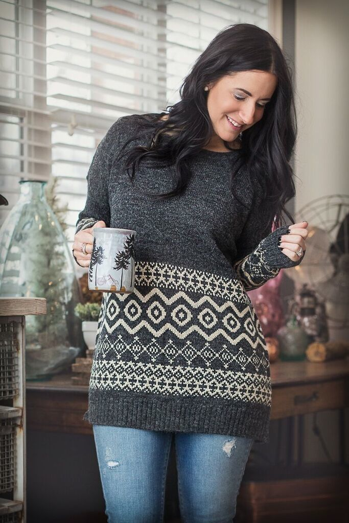 Image of Oversized Knit Striped Sweater