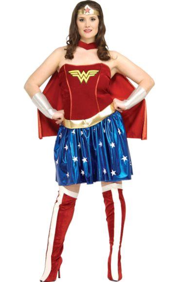 Wonder Woman Sexy Super Hero Costume (plus Size)