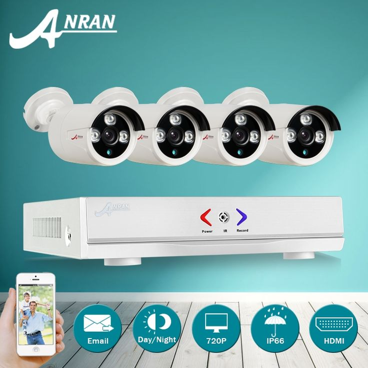 (125.05$)  Buy here  - ANRAN 1080N HDMI DVR 1800TVL 720P HD Outdoor Home Security Camera System 4CH CCTV Video Surveillance DVR Kit AHD Camera Set