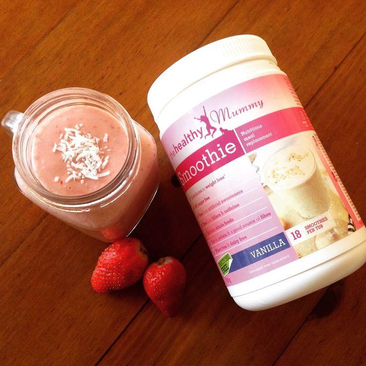 Strawberries & Cream Healthy Mummy Smoothie Recipe