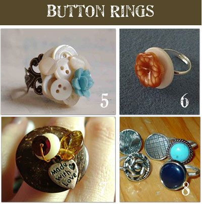 17 best images about button jewelry crafts on pinterest for Large plastic rings for crafts