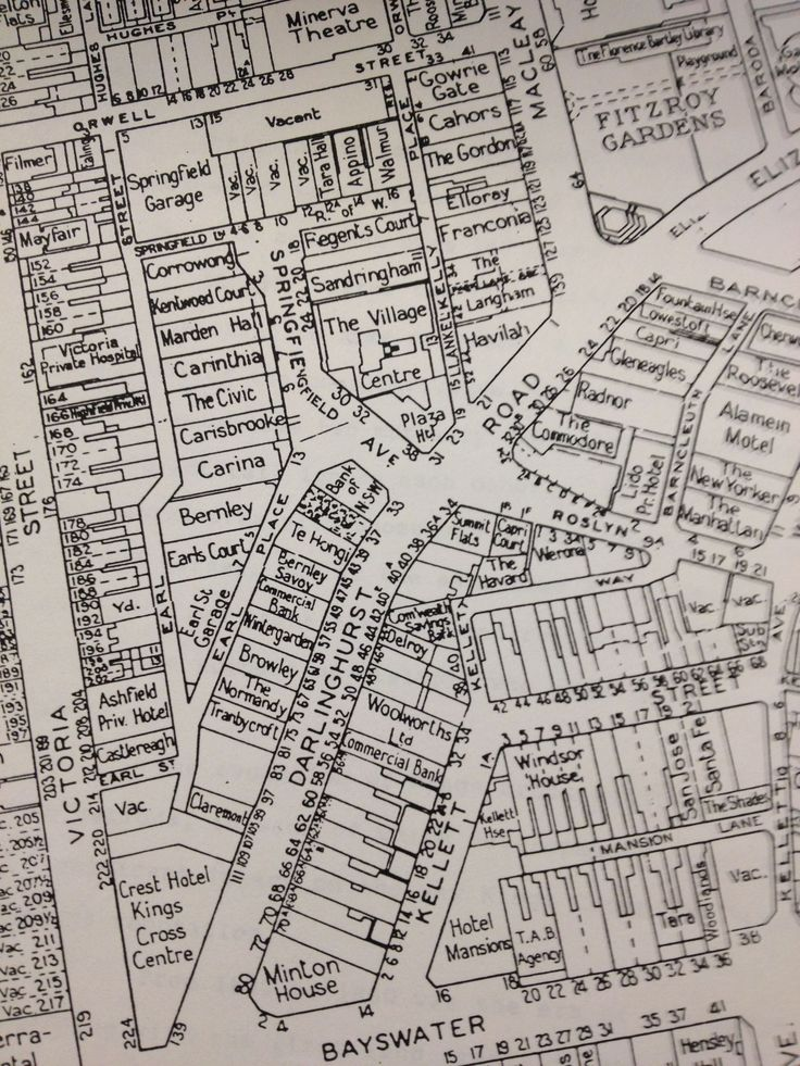 Summit Flats the name where the brothel is was changed to Drury House after this map was made.