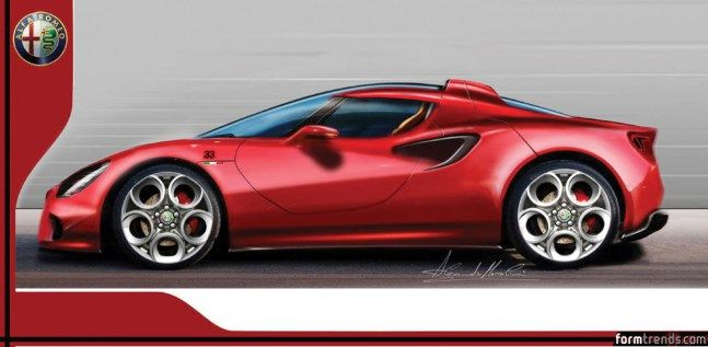 Alfa Romeo 4C design sketch
