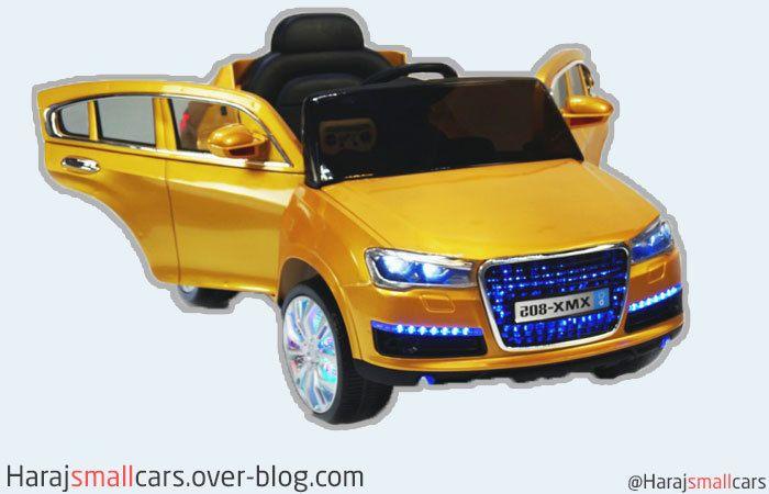 سيارة أودي كا 7 الكهربائية ذات اللون الذهبي حراج سيارات صغيرة Audi Q7 Audi Toy Car