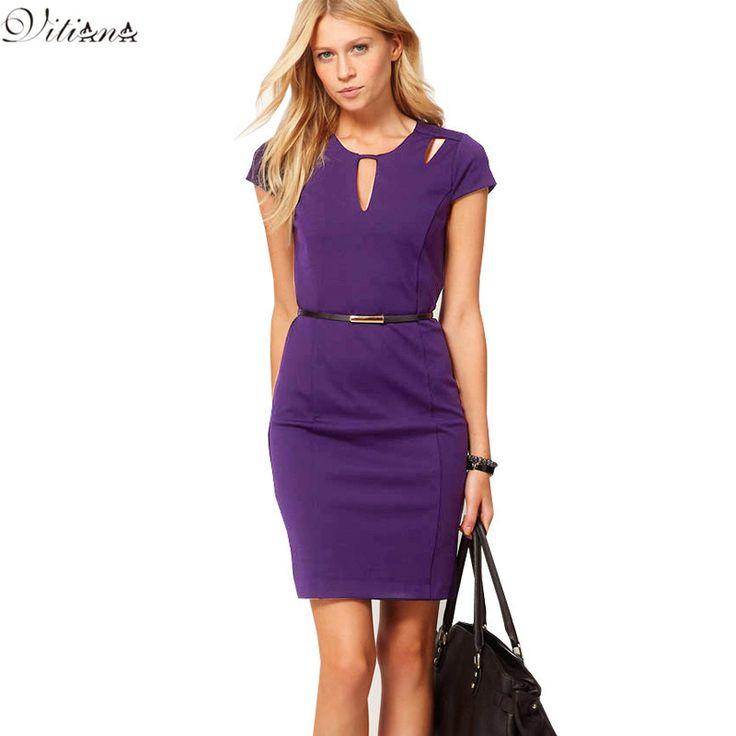 2016, летнее стильное женское облегающее платье для вечеринки, длина по колено, круглый ворот, короткий рукав, платье для офиса, работы, платья размеров S 3XLкупить в магазине VItiana storeнаAliExpress