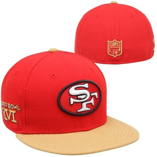 New Era San Francisco 49ers Super Bowl XVI Side Patcher 59FIFTY Fitted Hat - Scarlet