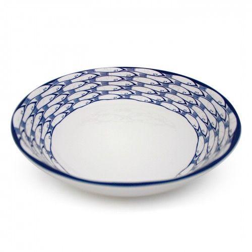 Jersey Pottery Sardine Run Salad Serving Bowl