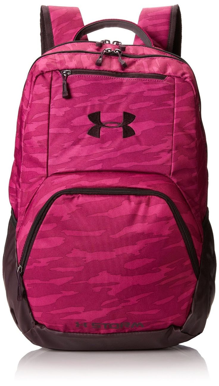 Under Armour Girls Exeter Bookbag Backpack in Magenta / Purple. Great for school, work or travel.