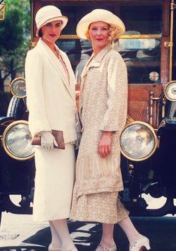 House of Elliot - Stella Gonet and Louise Lombard.  You have to watch the series several times to really see all the fantastic costumes, shoes and hair.