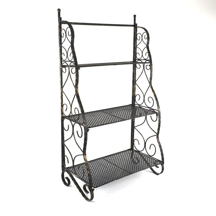 17 best id es propos de etagere en fer sur pinterest etagere murale noire meuble en fer et. Black Bedroom Furniture Sets. Home Design Ideas