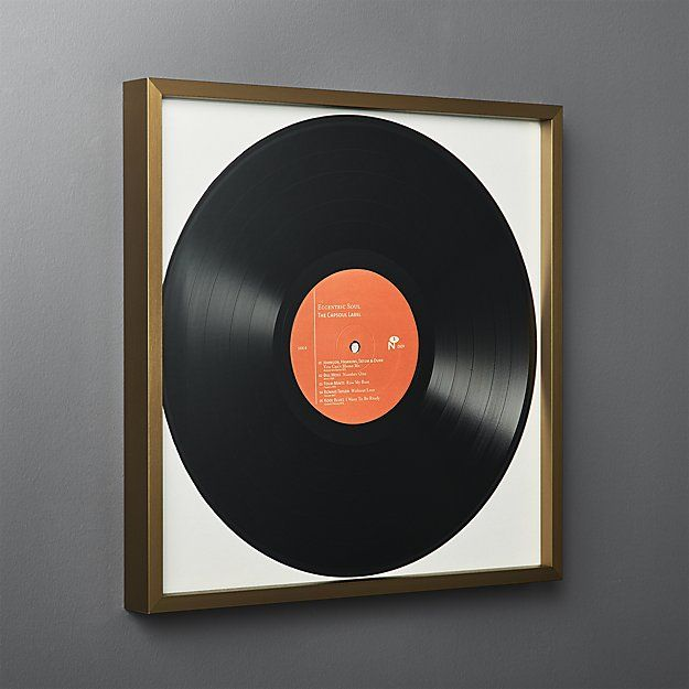 Gallery Brass Record Frame With White Mat Framed Records Gallery Wall Frames Vinyl Record Display