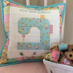 You Sew Girl Pillow Pattern #CreativePillow