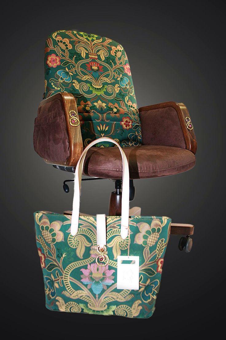 Poltrona gioiello realizzata in collaborazione con la designer di gioielli Sara Lubrano