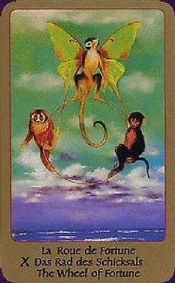 X. The Wheel of Fortune  - Tarot of Eden by Alika Lindbergh, Maud Kristen