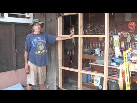 How To Build A Swing Out Garage Door Youtube Garage