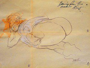 Gustav Klimt's erotic drawings