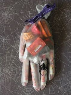 I know this is a bit scary for us, since we're not really into the freaky genre of Halloween stuff. But to give to the neighbor kids, it's not a bad idea