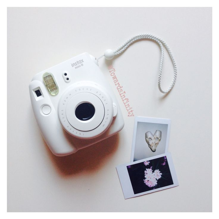 #my #polaroid #camera #fujifilm #instax #mini #8 #white #obsessed #pictures #dance #pointe #pink #flowers #summeressentials #memories