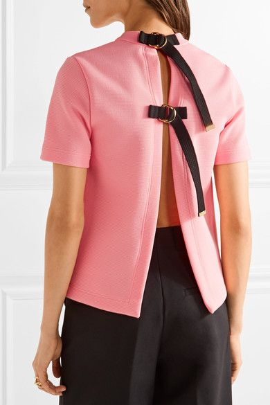 Marni - Open-back Crepe Top - Pink - IT40