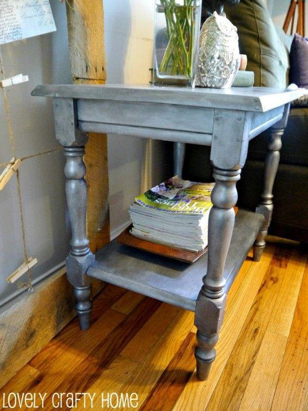 Remodelaholic   DIY Antique Zinc Finish Tutorial