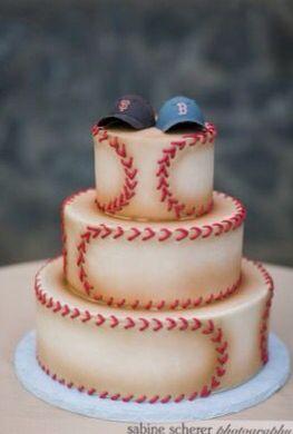 Pastel con temática de béisbol