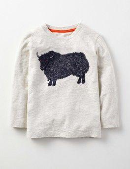 Yak/Oatmeal Marl Superstitch T-shirt Boden