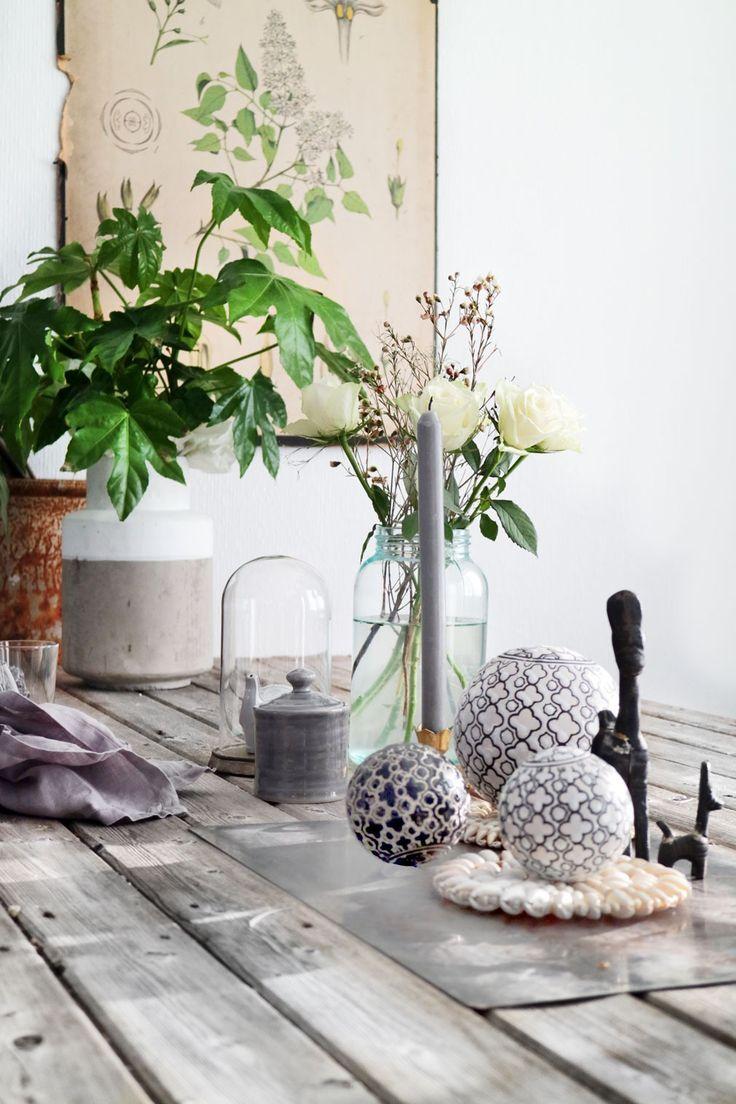 Diy table decoration Nordic Industrial Rustic from http://www.klisjehjemmet.no   #nordic #interior #interiordesign #table #rustic #industrial #diy