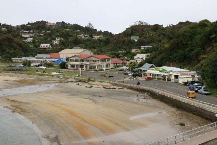 From on top of the hill over looking Oban township Stewart Island.
