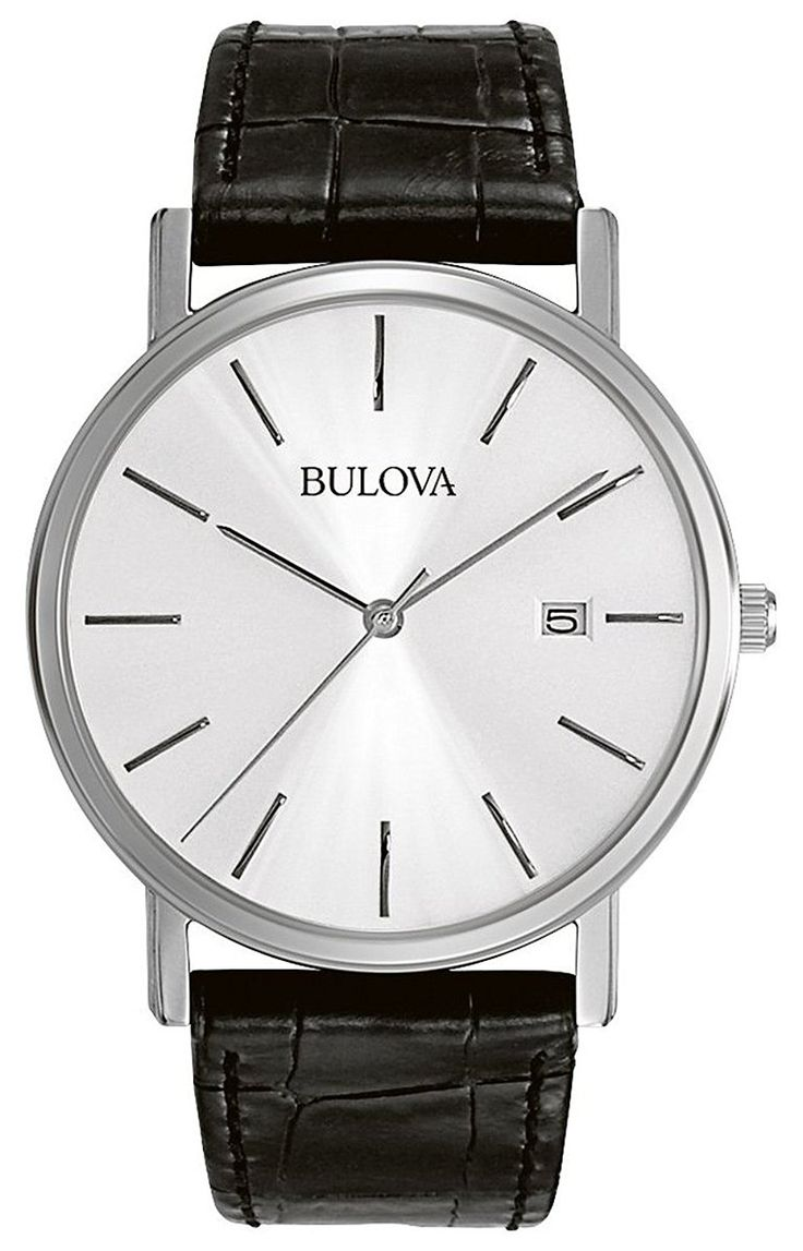 Amazon.com: Bulova Men's 96B104 Stainless Steel Dress Watch: Bulova: Watches