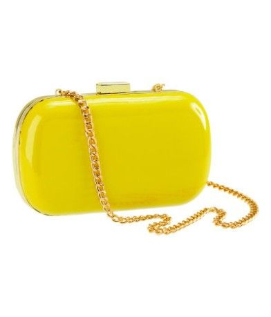 : Gold Chains, Yellow Clutches, Yellow Purses, Neon Clutches, Cases Pur, Amarillo Bags, Leather Bags, Bright Colors, Yellow Yellow