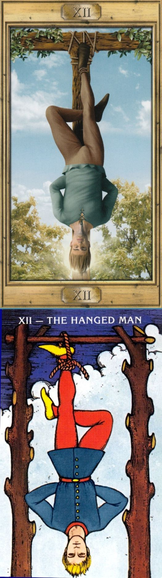 THE HANGED MAN: willing sacrifice and stalling (reverse). Pictorial Tarot deck and Morgan Tarot deck: tarot card generator, tarot oracle cards and tarot reading. Best 2017 paganism men and tarot deck blessing. #spells #hierophant #magician