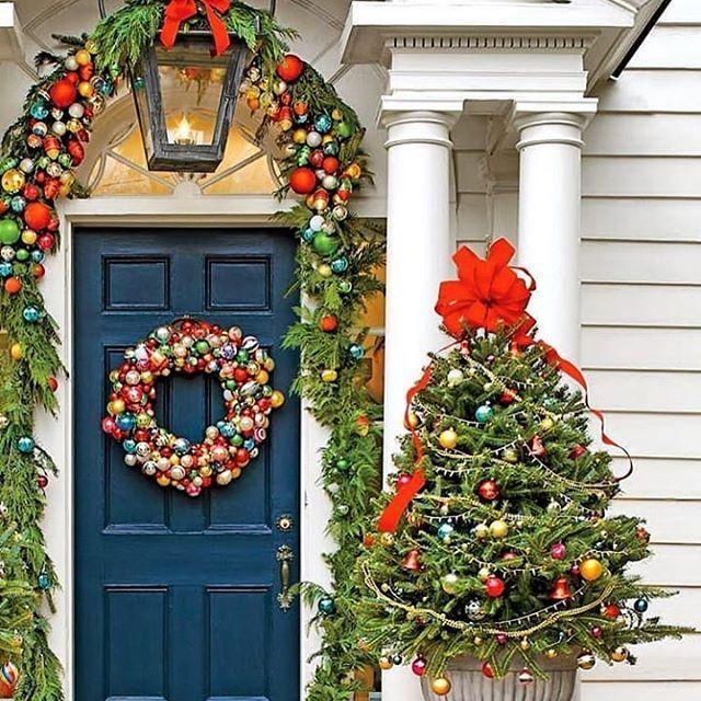 Pin Van Jane Ginn Op Christmas Kerstboomkrans Buiten Kerstversiering Kerstdecoratie