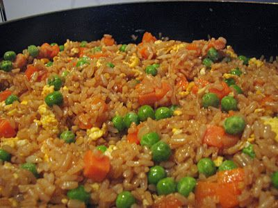 "Pinner: ""Fried Rice! Who needs {insert favorite japanese grill restaurant here} when you can make this at home?!"""
