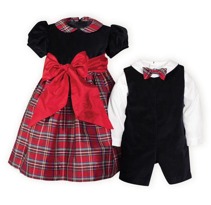 Christmas Plaid  Brother-Sister Outfits - Gia and Jax would look darling in coordinating outfits for Christmas!