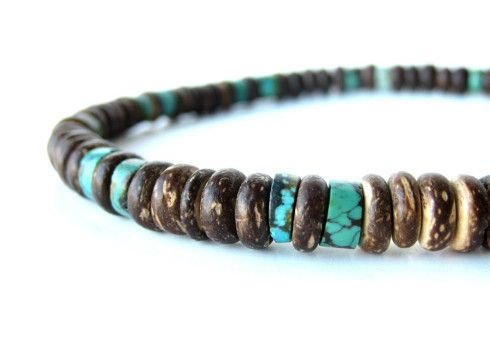 Men's Tribal Turquoise necklace by Authentic Arts