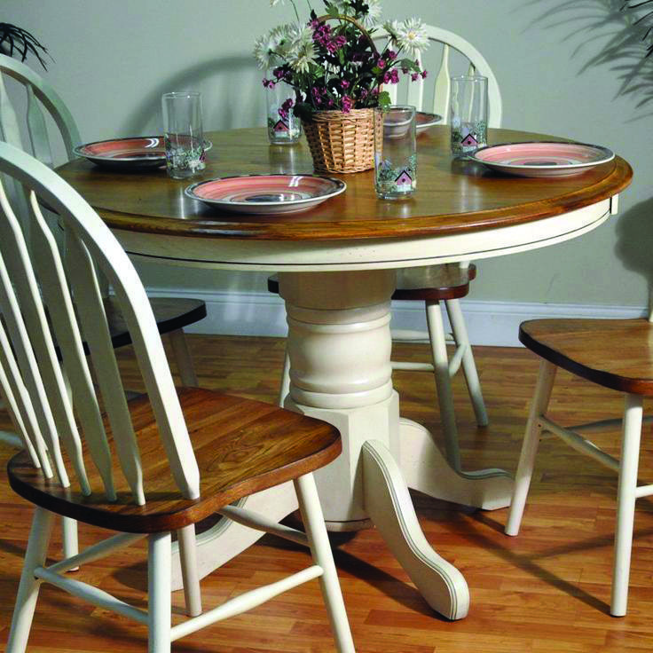 8 Small Cooking Area Table Suggestions For Your Property Roundtabledecor In 2020 Dining Table Makeover Painted Kitchen Tables Pedestal Dining Table