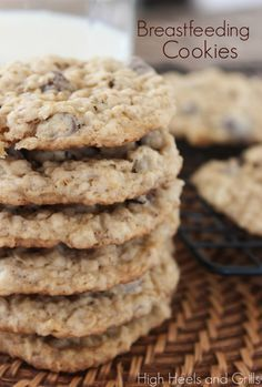If you breastfeed and need help boosting your supply, make these. They work! Tastes great as regular cookies as well. #recipe http://www.highheelsandgrills.com/2013/10/breastfeeding-cookies.html