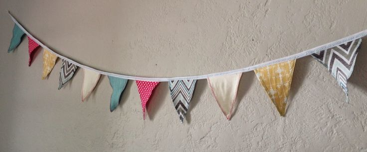 Just Another Crafternoon: Fabric Bunting Flags baby room, baby gift