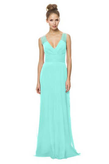 Bari Jay 1479 Bridesmaid Dress in Turquoise in Chiffon
