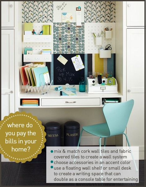 Family Spaces for Less: Desk Nook