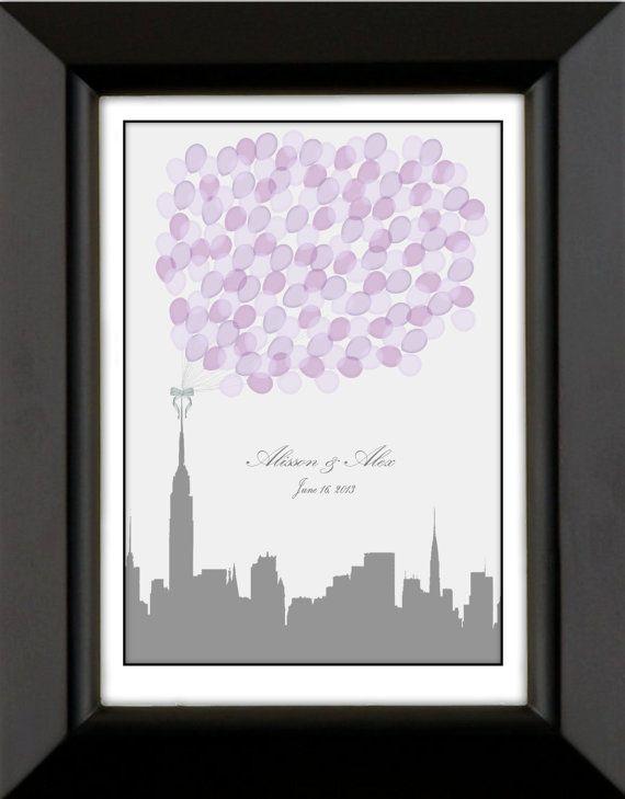 Modern City Skyline Wedding Guest Book by SpecialPrints on Etsy, $59.00 .....Choose Any City