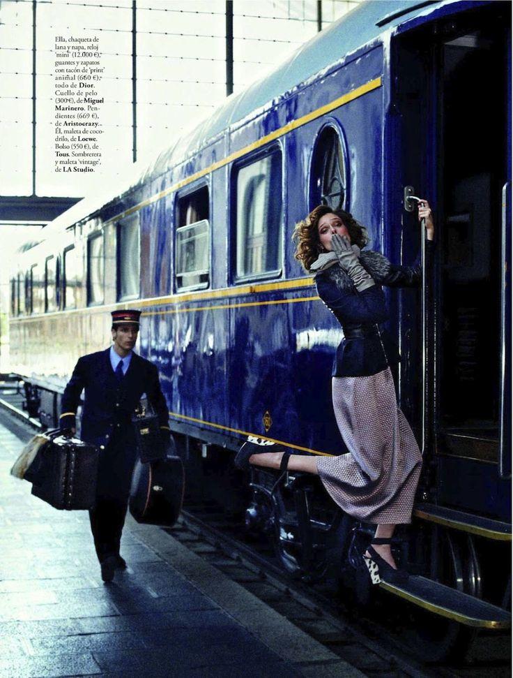 visual optimism; fashion editorials, shows, campaigns & more!: viaje al pasado: coco rocha by xavi gordo for elle spain september 2012