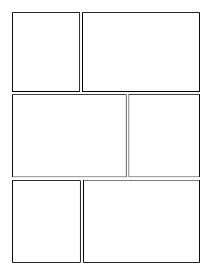 comic strip template 6 frames  Image result for 5 page comic book | Comic book template ...